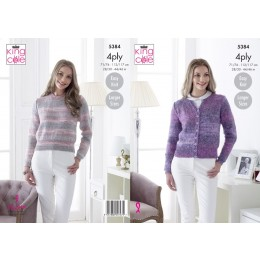 KC5384 Cardigan and Sweater for Women in King Cole Drifter 4Ply