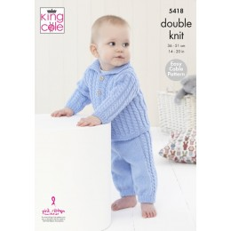 KC5418 Babies Jacket and Trousers in King Cole Comfort DK