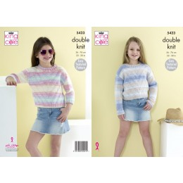 KC5423 Sweaters for Girls in King Cole Beaches DK