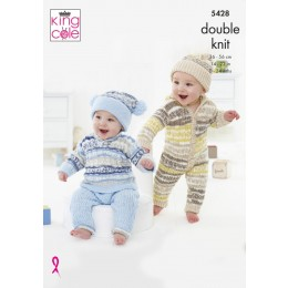KC5428 Onesie, Sweater, Trousers and Hats for Babies in Cherish and Cherished DK