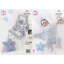 KC5449 Baby Set Knitted in King Cole Yummy