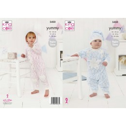 KC5450 Onesies & Hat for Babies in King Cole Yummy