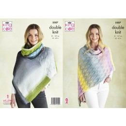 KC5507 Ladies Ponchos & Snood in King Cole Curiosity DK