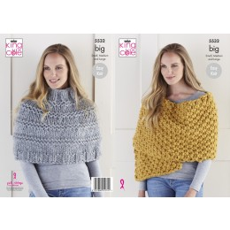KC5532 Lady's Poncho & Wrap in King Cole Big Value Big