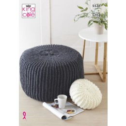 KC5536 Poufs & Cushions in King Cole Big Value DK