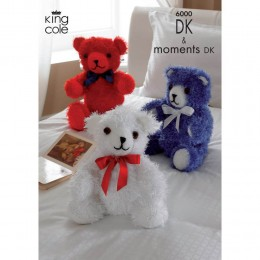 KC6000 Three Bears Knitted with Moments DK and Big Value DK