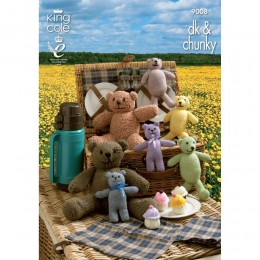 KC9008 Teddy Bears Picnic Knitted with Various King Cole Yarns