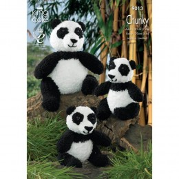 KC9013 Panda Toys Knitted with Cuddles Chunky