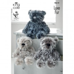 KC9019 Teddy Bears Knitted with Luxe Fur