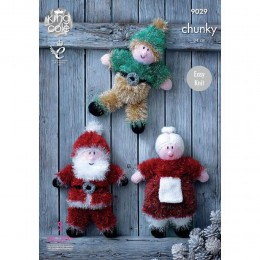 KC9029 Christmas Toys Knitted with Tinsel Chunky & Dollymix DK