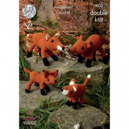 KC9032 The Fox Family Knitted with Merino Blend DK