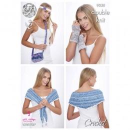 KC9038 Crochet Accessories Crocheted with Vogue DK & Bamboo Cotton DK