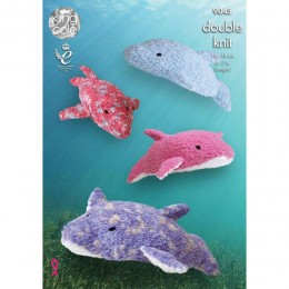 KC9045 Dolphins Knitted with Cuddles DK & Cuddles Multi DK
