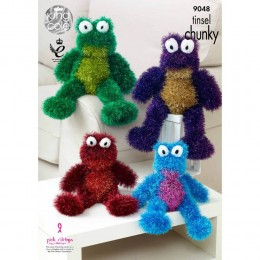 KC9048 Tinsel Frogs Knitted with Tinsel Chunky