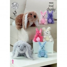 KC9050 Rabbits Knitted with Tinsel Chunky