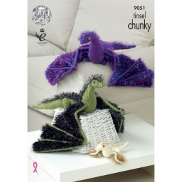 KC9051 Dragons Knitted with Tinsel Chunky