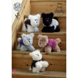 KC9056 Dog Toys in King Cole Tinsel