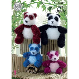 KC9059 Panda Toys in King Cole Tinsel