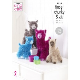 KC9129 Alpacas in King Cole Tinsel Chunky