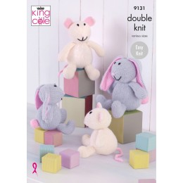 KC9131 Bunnies & Mice in King Cole Big Value DK 50g