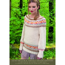 L12-01 Ladies Fair Isle Jumper Amitola Grande & Trenzar
