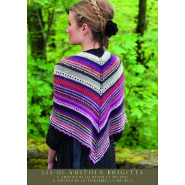 L13-01 Ladies Striped Shawl Amitola