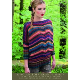 L13-02 Ladies Striped Jumper Amitola Grande