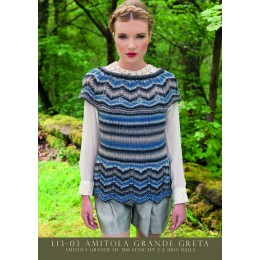 L13-03 Ladies Striped Top Amitola Grande