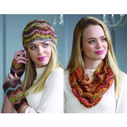 L14-01 Louisa Harding Marmo & Mazzo Scarf, Snood, Hat and Wristwarmers