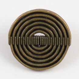 Brass Spiraling Metal Brass Shank Button 20mm