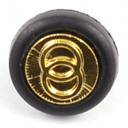 Black and Gold Logo Shank Button 15mm
