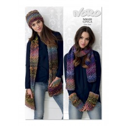 NSL011 Ladies Scarf, Hat and Mittens Ginga