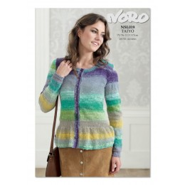 NSL019 Ladies Waisted Cardigan Taiyo 4ply