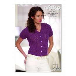 NSL031 Ladies Short Sleeved Cardigan Silk Garden Solo