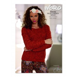 NSL032 Ladies Cable Jumper Silk Garden Solo