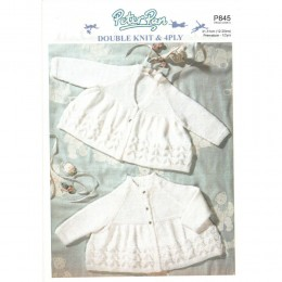P845 Baby Matinee Coats in 4Ply