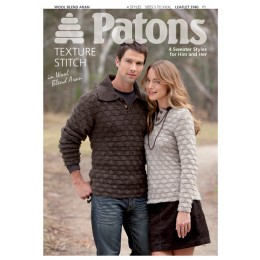 Patons 3740 A collection of Aran sweaters for both ladies and men in wool blend Aran