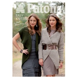 Patons 3741 Ladies Jackets and Vests from Wool Blend Aran