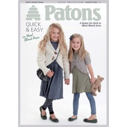 Patons 3742 Girls Jackets from Wool Blend Aan