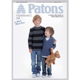 Patons 3755 4 rib style jumpers for boys in Wool Blend Aran