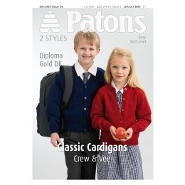 Patons 3890 Children's Classic Cardigans in DK