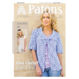 Patons 3896 Ladies Jacket and Vest in Smoothie DK