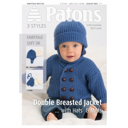 Patons 3915 Fairytale Soft DK Double Breasted Jacket with Hat