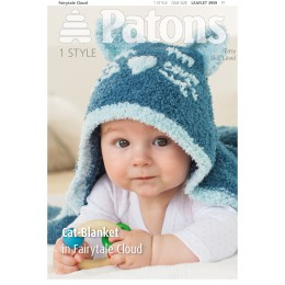 Patons 3959 Fairytale Cloud Cat Blanket