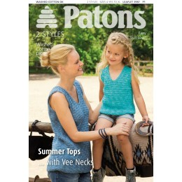 Patons 3987 Washed Cotton DK Summer Tops