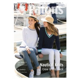 Patons 4015 Ladies AranStyle Nautical Knits in Patons 100% Cotton DK