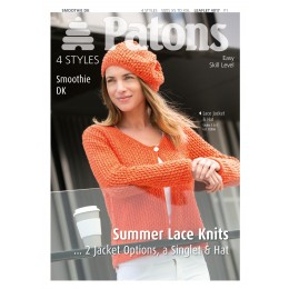 Patons 4017 Ladies Lace Jacket in Patons Smoothie DK