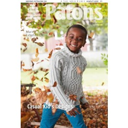 Patons 4032 Merino Extrafine DK Casual Cable Kids Designs leaflet in DK