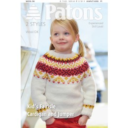Patons 4050 Children's Fairisle Cardigan and Jumper using Patons Wool DK