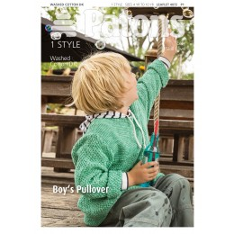 Patons 4072 Boys Pullover using Patons Machine Washable Denim Effect Washed Cotton DK